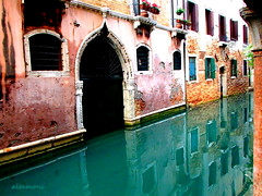 An Emerald Canal in Venice (altamons) Tags: trip travel venice vacation italy holiday color colour water holidays europe italia venizia altamons