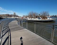 Pier C Park Pedestrian Bridge (South Access Walkway), Hudson River, Hoboken, New Jersey (jag9889) Tags: park bridge foot newjersey crossing footbridge nj bridges pedestrian walkway hudsonriver brcke hoboken waterway 2014 hudsoncounty pierc k320 jag9889