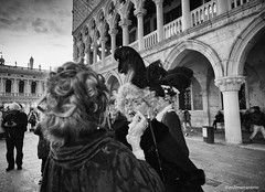 Venice Carnival #1 (enzo marcantonio) Tags: street leica carnival venice people blackandwhite bw italy female women mask sony makeup a7 sanmarco 21mm sanmarcosquare