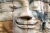 Smiling Face with open eyes at Bayon Temple (Patumraat) Tags: thailand temple ancient asia cambodia ruin empire siem thom civilization angkor wat invasion asean ayudhaya reab khmehr