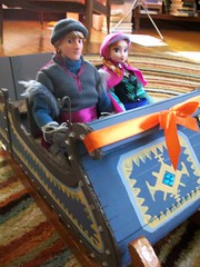 Kristoff's Sleigh (paynedabear) Tags: anna frozen store doll dolls handmade ooak barbie hans disney size custom sled sleigh elsa jcp kristoff jcpenney 2013 vision:people=099 vision:face=099 vision:groupshot=099 vision:car=0612