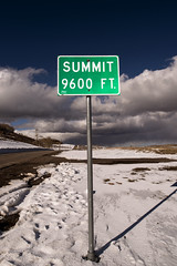 Summit 9600 Feet (Curtis Gregory Perry) Tags: snow feet sign utah nikon highway summit 12 9600 d800e
