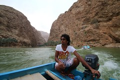 The boatman on his ferry at Wadi Shab, Oman (Frans.Sellies) Tags: oman wadi      wadishab  img2990  umman