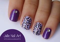 Nail Art de Oncinha (Jullie Nail Art) Tags: cute print leopard desenho roxo nailart oncinha cutenailart unhaartistica unhadecorada decoraçãodeunha unhadodia nailartfofo
