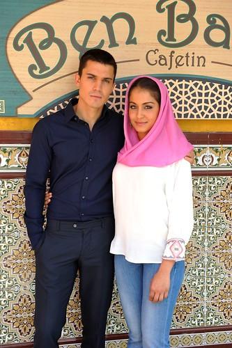 Álex González e Hiba Abouk