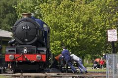 IMG_3296-6023 (Roger J Brown) Tags: king no centre may 4th railway turntable steam edward ii gw railways gala metropolitan didcot gwr 2014 460 6023