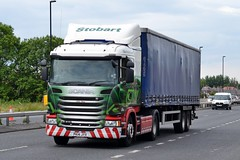 Stobart L7744 PK14 JYX Ellie Mae A1058 Wallsend 25/6/15 (CraigPatrick24) Tags: road truck cab transport tesco lorry delivery vehicle trailer scania logistics wallsend coastroad elliemae stobart eddiestobart curtainsider a1058 stobartgroup scaniag410 l7744 a1058wallsend pk14jyx tescocurtainsider coastroadwallsend