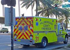 Hillsborough County Fire Rescue Number 31 (gg1electrice60) Tags: yellow tampa downtown florida firetruck fireengine paramedics riverwalk firerescue hillsboroughriver downtowntampa madisonstreet madisonst hillsboroughcounty hillsboroughcountyfirerescuenuber31 nashleydrive