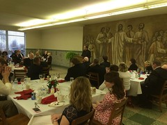 Fr. Kesicki welcomes guests to St. Mark Day Banquet - April 2016