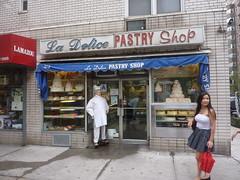 Pastry Shoppe Girl (Slip Mahoney) Tags: new york people newyorkcity manhattan famous ticktock mrg tits