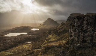 Sunshine and showers on the Trotternish Ridge