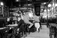 Crosswords at The Grapes (PM Kelly) Tags: street photography pub grapes pint interior inside bnw bw blackandwhite blackwhite crossword puzzle times x70 bar