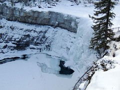 Crescent Falls Alberta (kevinmklerks) Tags: alberta rocky mountains kootenay kootney plains lake abraham falls forest floodplain siffleur