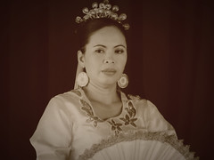 The Matrone (STEHOUWER AND RECIO) Tags: matrone philippines pilipinas people performance girl lady beautiful dress culture light portrait cultural beauty villaescudero traditional costume indoor travel moment filipijnen handfan chinesefan fan waaier waaiers monochrome mono kostuum mooi optreden gezicht face expressions expression uitdrukking eyes makeup filipina earrings oorbellen ganda babae maganda show luzon calabarzon resort retro sepia
