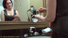 katsurth_faceshave_in_rubberdress_1 (kat_surth) Tags: faceshave faceshaving face shave rubber dress katsurth surth lathershave lather straightedgerazor razor straightedge bathroom hotel