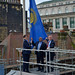 Chief Angus, Gary Millar and Lord Mayor raising flag