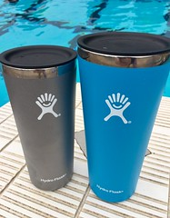 Hydrating with Hydro Flask (Nancy D. Brown) Tags: hydroflask waterbottle tumbler pool hydrate travelgear