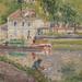 PISSARRO Camille,1902 - Moret, le Canal du Loing, Chemin de Halage à St-Mammès (Orsay) - Détail 13