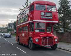 Routemaster (M C Smith) Tags: routemaster red epping bus pentax road cars houses traffic wall trees green