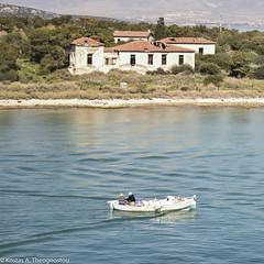 Floating (ktheog) Tags: sail island salamina greece boat fishing old