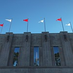 Reynolds Coliseum on a beautiful day.