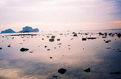 Rocks, Various Sizes (DoubleBen) Tags: canon af35ml lomo 100 film thailand chiangmai chiang mai krabi railay pad thai rocks cliff mountain ocean water east west