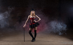 Week 9 - Number (TP DK) Tags: 5d4 5div basque blonde bowlerhat cane canon derelictfactory heart lace model ocf red ruby speedlight stockings suspenders
