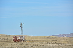 Tank and Friend (Explored) (RootsRunDeep) Tags: rural wyoming windmill aerometer tank water prairie windmillwednesday country explore