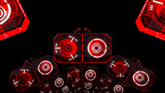 Red Giant 48 Looping Animation (globalarchive) Tags: rhythmic electric pattern art dj experiment party scifi fiction fractal power beautiful futuristic effects driven giant dream cool bpm 3d render awesome animation high amazing sync concept abstract seamless digital looping virtual best red lights strobe modern contrast imagination science geometric sci animated loop design fi creative energetic energy tempo