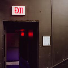 Exit Door(s) (guytheorphan) Tags: hasselblad hasselblad500cm 6x6 square mediumformat 80mm f28 zeiss 80mmf28 planar cf t zeissplanarcft color fuji fujifilm fujicolor fujipro fujipro400h 400h iso400 carrboro carrboronc artscenter doors existinglight ambient