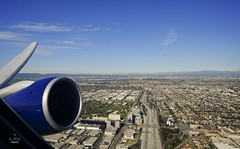 Taking off from LA (A. Wee) Tags: boeing 777 losangeles california usa 加州 america 美国 洛杉矶 lax 机场 airport wing takeoff
