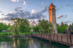 Spokane Clocktower (CraigGoodwin2) Tags: bridge spokane downtown clocktower spokaneriver