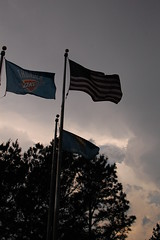 Flags over the zoo (radargeek) Tags: city sky oklahoma clouds zoo okc ok