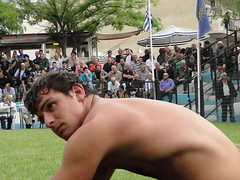 Bulgarian wrestler (d.mavro) Tags: shirtless sexy sport fighter body wrestling traditional sensual arena greece strong bulgarian serres grecoroman pehlivan gre athlet restling nigrita  pahlavan pehlwan