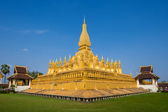 Wat Thatluang 5 (Santi Sukarnjanaprai) Tags: travel art architecture temple asia place buddhist sight laos wat vientiane thatluang