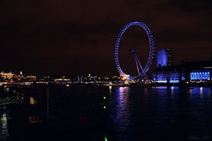 London Eye (Ulises SC) Tags: city blue london eye rio azul night river lights luces noche ciudad londres noria