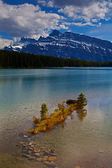 Two Jack (stevenbulman44) Tags: blue sky cloud white mountain lake color green rain canon spring tripod filter alberta lee 5d banff polarizer gitzo markii wate twojack rundel gnd 2470f28l