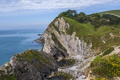 Over the Cove (Jack Essom) Tags: sea water coast rocks cove jurassic lulworth