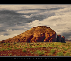 Slug Rock (Whitney Lake) Tags: sky clouds desert redrock monumentvalley