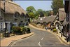 Shanklin Village (Audrey A Jackson) Tags: road trees windows roof summer sky man history architecture doors village isleofwight footpath chimneys shanklin thatched cottages canon60d me2youphotographylevel1 vigilantphotographersunite
