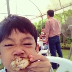ตัวกินไก่ 5555 @งานทำบุญบ้าน สราญสิริ สายไหม