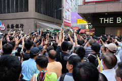 Sai Yeung Choi Street. Hong Kong (H.L.Tam) Tags: hongkong protest police teacher fujifilm falungong mongkok  protestor  saiyeungchoistreet  wclx100 x100s  straightoutofcameraimage