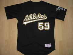 Oakland Athletics 2008 alternate Game Worn Jersey (kirusgamewornjerseys) Tags: game baseball worn jersey mlb oaklandathletics gamewornjersey andrewbrown