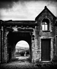 The view from Clitheroe Castle (JEFF CARR IMAGES) Tags: blackandwhite castle lancashire clitheroe bowland northwestengland