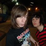 Leigh and Jordan at Skate Extreme skatepark, Newport