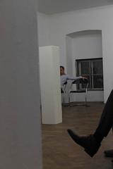 photoset: Wiener Art Foundation: Heimo Zobernig - Lesung Ferdinand Schmatz (30.9.2013, Büro Weltausstellung)