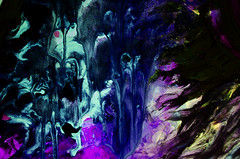 Glow madness (RVIII) Tags: blue abstract texture wow amazing paint acrylic glow uv glowinthedark acrylics uvlight