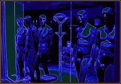 Blue Hours (Pifou 2010) Tags: blue light man france art colors shop mannequins magasin cannes couleurs bleu hour lumiere boutique storewindow stores dummy homme heure vitrine bluehours 2013 gerardbeaulieu pifou2010 storesdisplays