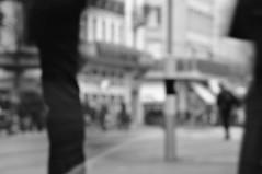 The Parade 3 (pat.netwalk) Tags: blackandwhite motion money blur walk zurich business suite serie paradeplatz copyrightbypatwwwnetwalkch