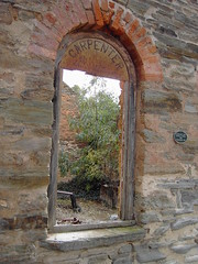 Mintaro South Australia. Ruins of Mintaro carpenter and undertaker shop. Leatheans Store built in 1862.